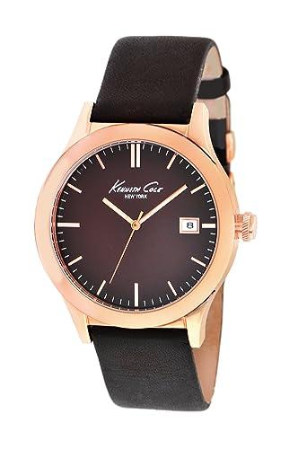 Kenneth Cole KC1855 - Reloj analógico de Cuarzo para Hombre con Correa de Piel, Color marrón: Kenneth Cole: Amazon.es: Relojes