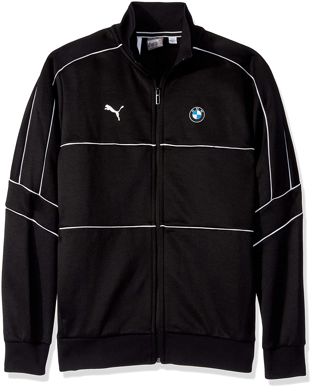 PUMA Mens Standard BMW Motorsport T7 Track Jacket, Black, S