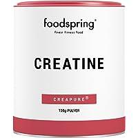 foodspring Creatine poeder, 150 g, pure creatine monohydraat voor spiergroei, kracht en conditie, geproduceerd in…