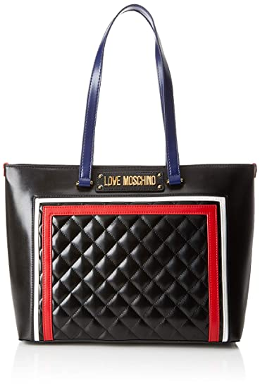 1412a72e2d Love Moschino Quilted Pu Mix Multi, Women's, Black (Nero), 15x10x15 ...