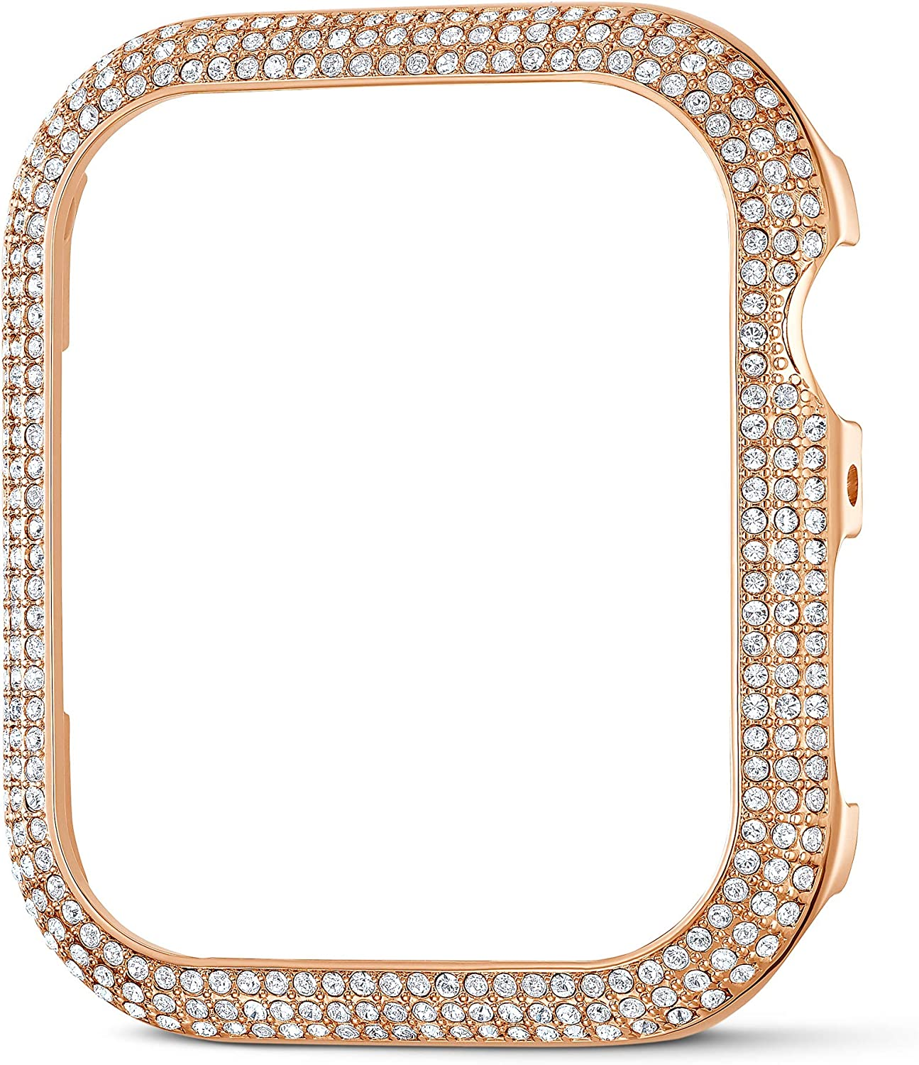 SWAROVSKI 44mm Sparkling Case Compatible with Apple Watch, Rose-Gold Tone, 44