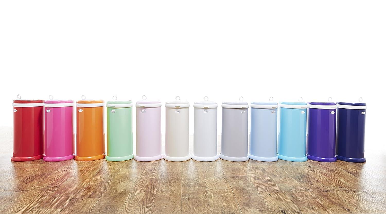 Steel Odor Locking Nappy Pail Nappy Disposal Bin White Ubbi Money Saving No Special Bag Required