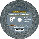 "POWERTEC 15523 Aluminum Oxide Grinding Wheel, 8"" x 1"", 5/8"" Arbor, 150 Grit"