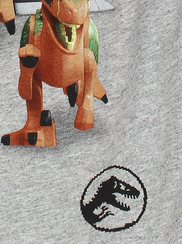 Grau Kurzarmshirt T-Shirt Shirt 104-140 LEGO Jurrasic World