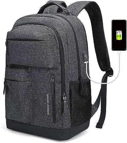 Wasserdichter Schulrucksack Business Laptop Rucksack USB Ladeanschluss Anschluss