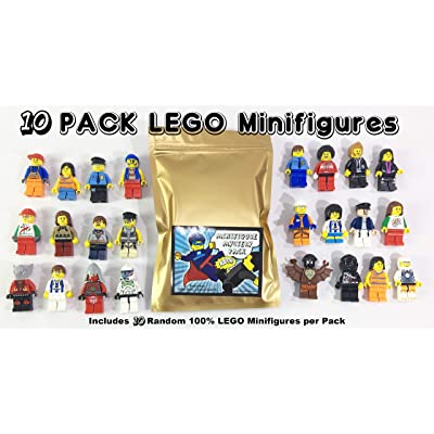 Pack of 10 Random Authentic Lego Figures (9443): Toys & Games