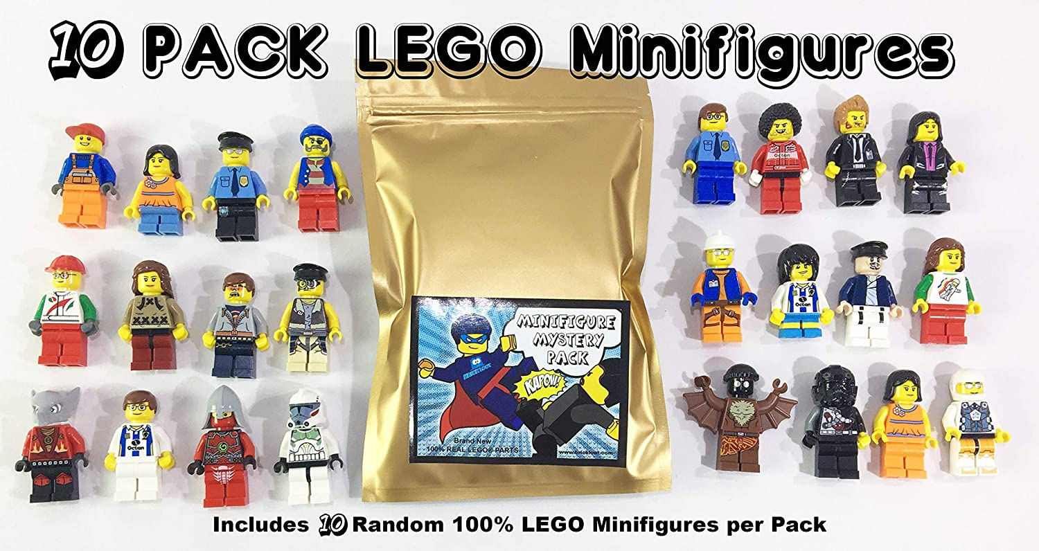 Pack of 10 Random Authentic Lego Figures (9443)