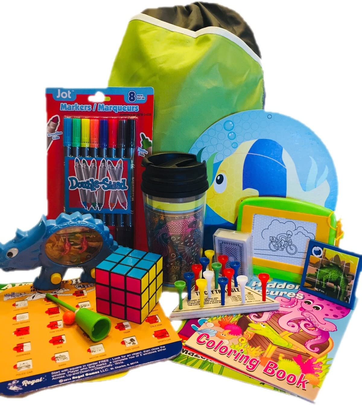 Travel Activity Bag Kit for Kids - Keep children busy on the airplane or in the car