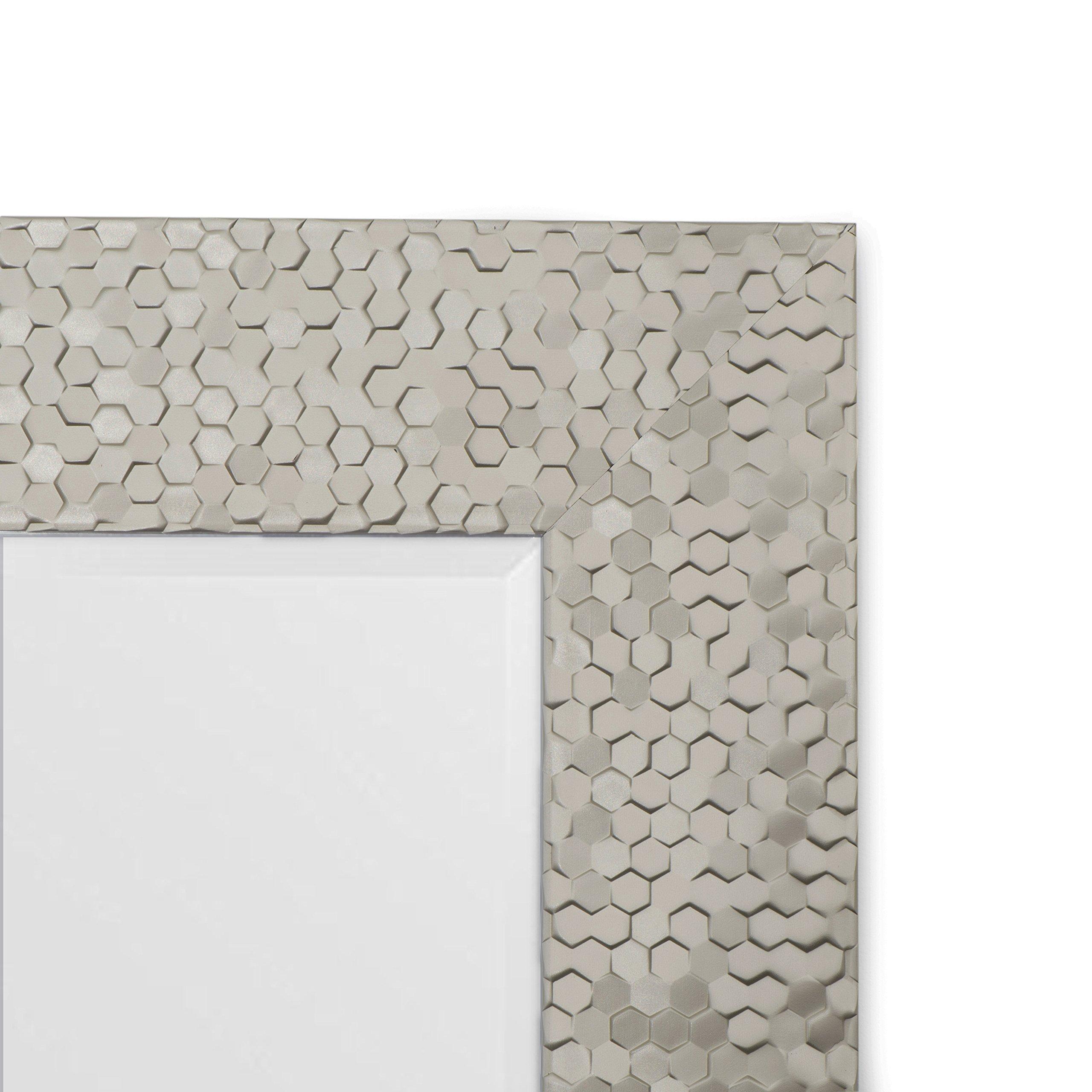 bb0020b7cd3e Wall Beveled Mirror Framed - Bedroom or Bathroom Rectangular Frame Hangs  Horizontal Vertical by EcoHome (21x25