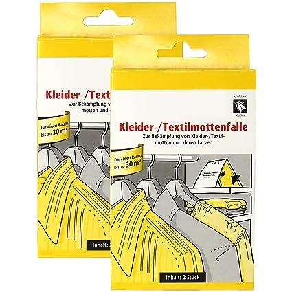 com-four® 4X Ropa y Trampa de Polilla Textil, para Combatir la Ropa y polillas Textiles y Sus Larvas (04 Piezas - Ropa Trampa Polilla)