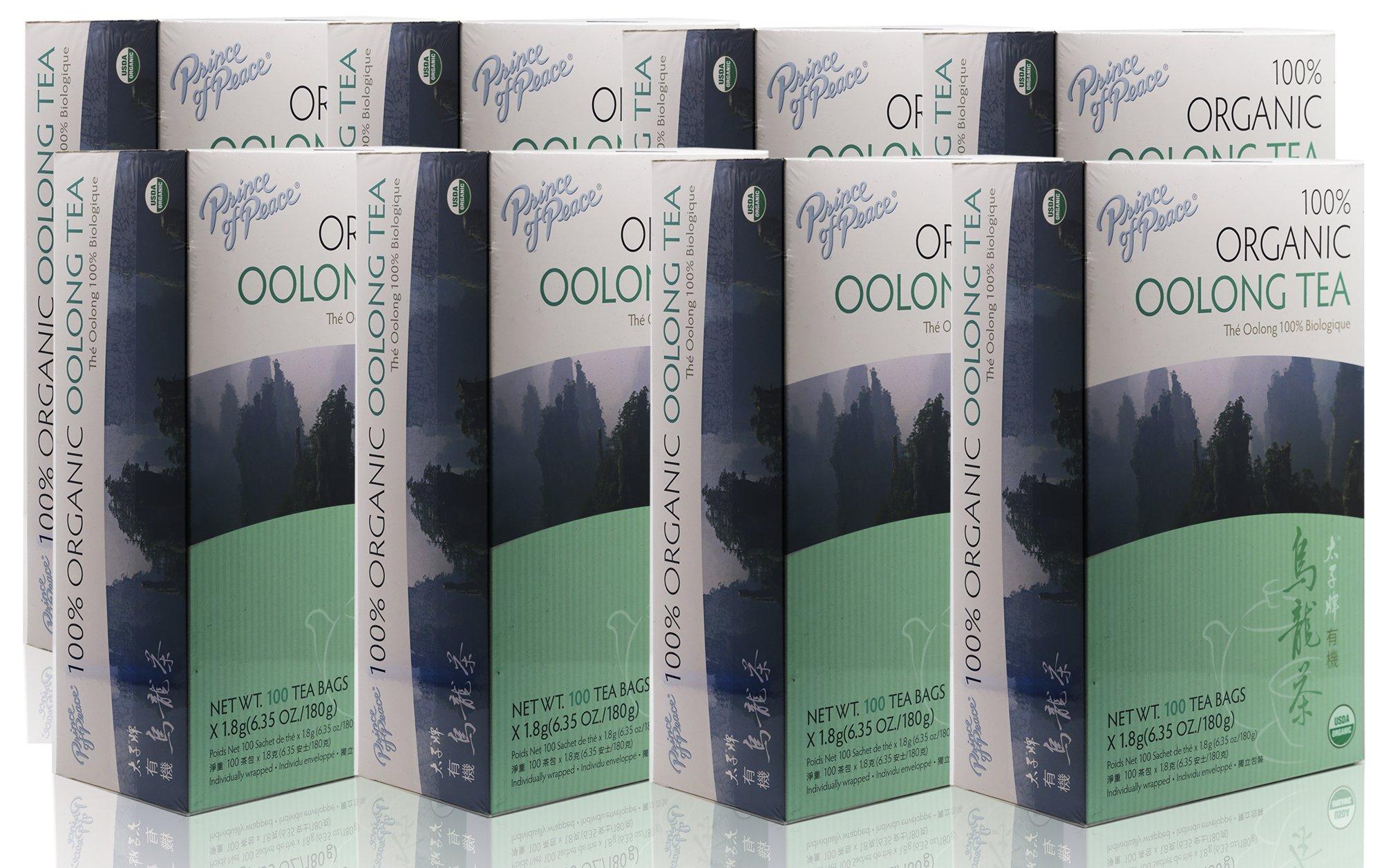 Prince Of Peace Organic Oolong Tea-100 Tea Bags net wt. 6.35oz (180g) (8)