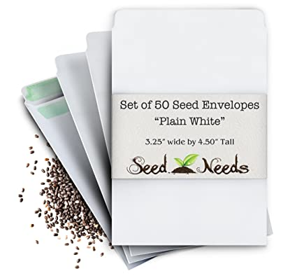 photo about Printable Seed Packets named Preset of 50 Blank White Seed Envelopes W/Self Sealing Adhesive (3.25\