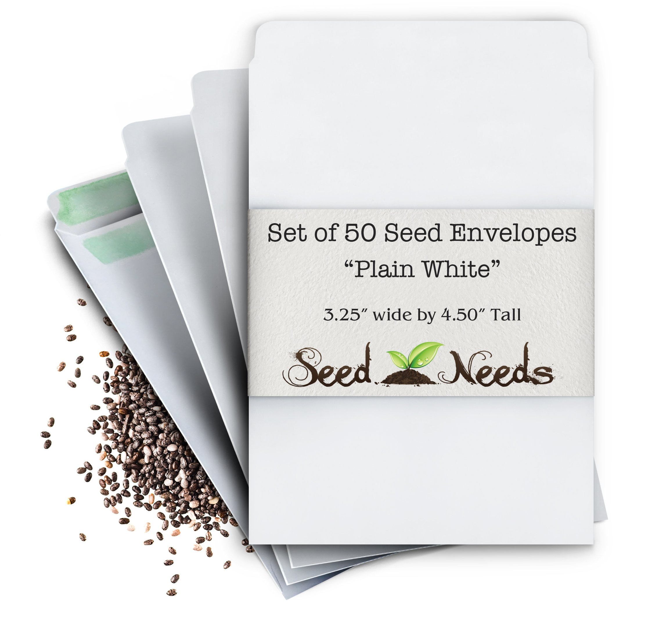 Amazon Set Of 50 Blank White Seed Envelopes Wself Sealing