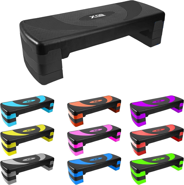 MaxxToys Stepper A/érobic Stepper per fitness 20 cm e 25 cm 90 cm adatto per casa e ufficio 15 cm 3 altezze regolabili