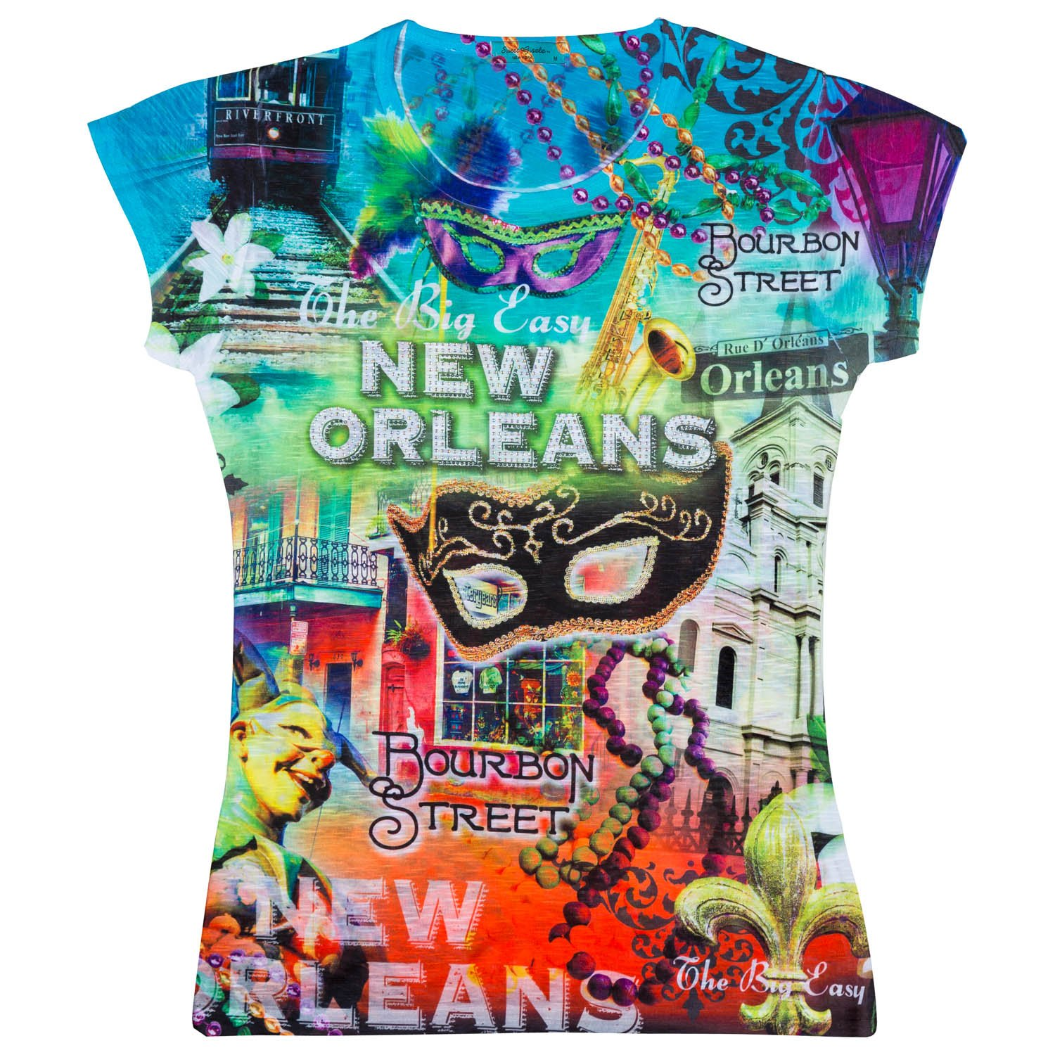 Sweet Gisele Womens New Orleans Graphic T-shirt