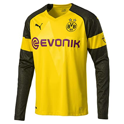 Amazon.com   PUMA 2018-2019 Borussia Dortmund Home Long Sleeve ... 3b250a60b