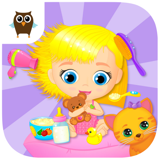 Lily & Kitty Baby Doll House - Little Girl & Cute Kitten Care -
