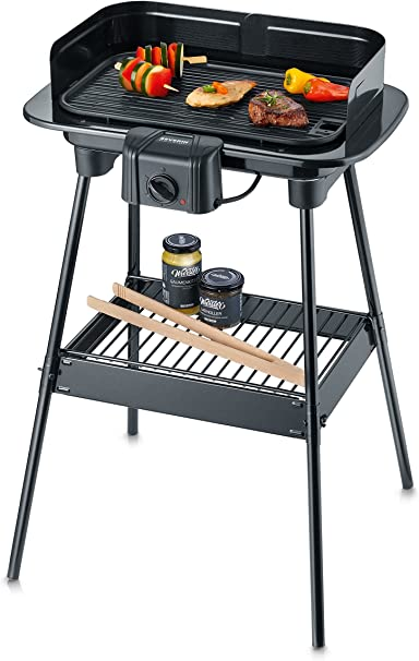 SEVERIN Gril Barbecue, Gril de table, Surface du Gril (38x22