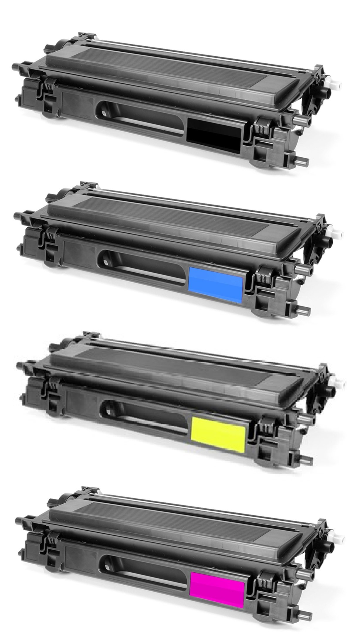 GLB Premium Quality High Yield Remanufactured Brother TN110 Toner Cartridges Set ( Black , Cyan , Yellow , Magenta )