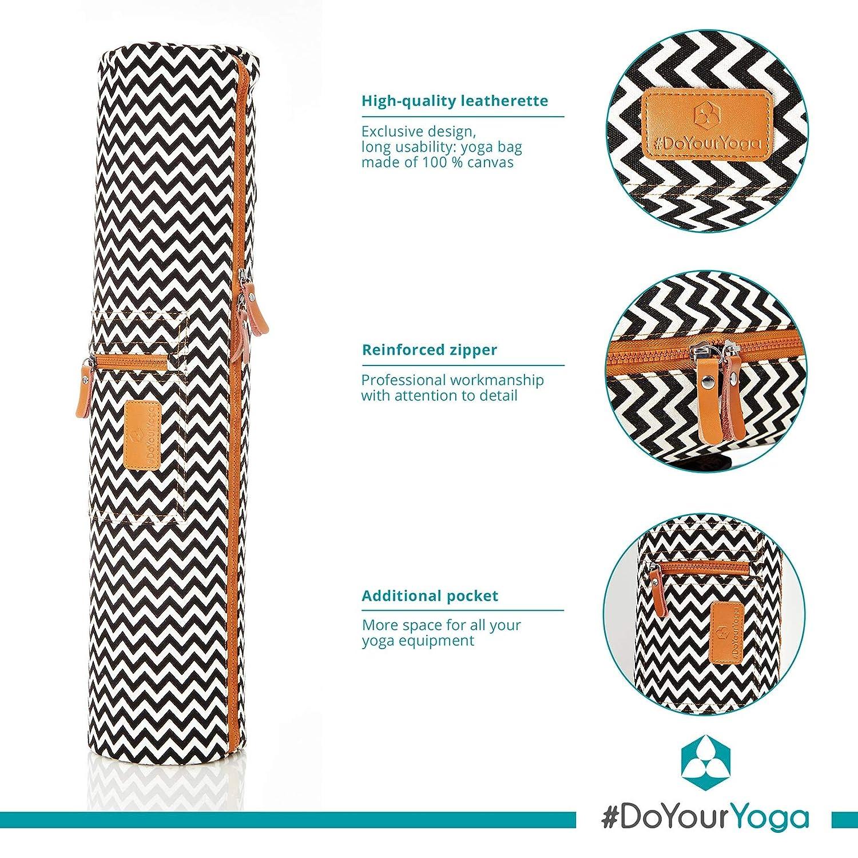 Amazon.com : #DoYourYoga Full-Zip Exercise Yoga Mat Carry ...