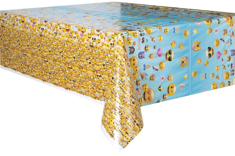 84 x 54 Unique SG/_B01LWSIGZJ/_US 2PK Emoji Plastic Tablecloth