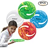 US Sense Kids Frisbee Flying Disc Boys Toys 4 Pack - Fun Sports Games for Boys Girls Family- Outdoor Games at Beach Pool Park School Playground and Back Yard DIY Creativity