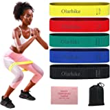 OlarHike Resistance Booty Bands Set, Exercise Bands Workout Fitness Bands for Legs and Butt, 5 pcs Fabric Booty…