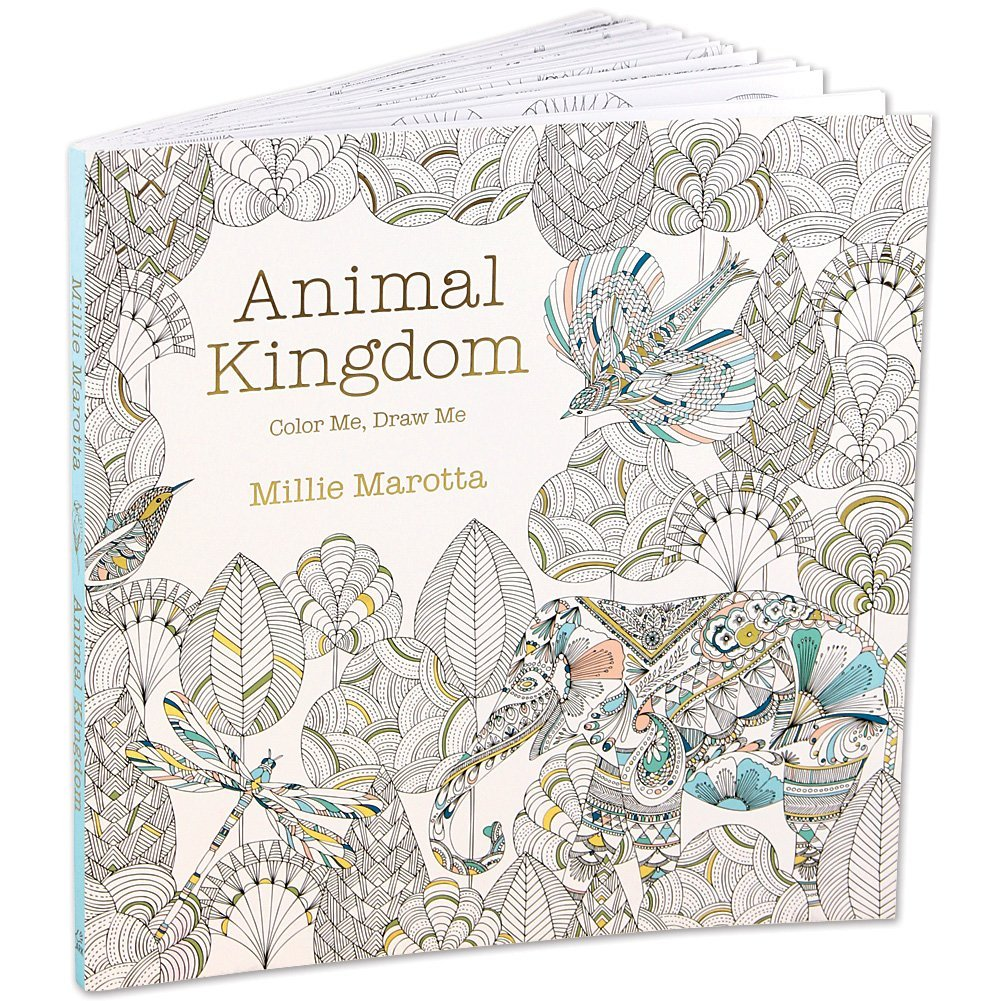 Color me draw me animal kingdom book - Amazon Com Animal Kingdom Color Me Draw Me Grown Up Coloring Book By Millie Marotta Toys Games