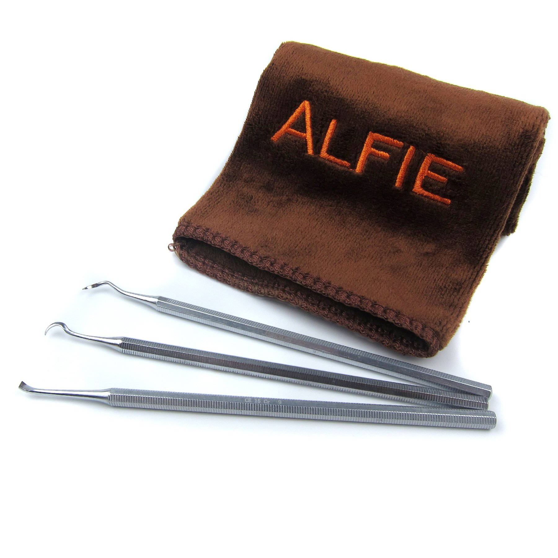 Alfie Pet by Petoga Couture - Dagan Dental Tarter Remover/Scraper 3-piece Set with Microfiber Fast-Dry Washcloth