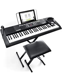 Alesis Melody 61 MKII - 61-Key Portable Keyboard with Built-In Speakers, Headphones, Microphone, Piano Stand, Music Rest...