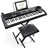 Alesis Melody 61 MKII | 61 Key Portable Keyboard with Built In Speakers, Headphones, Microphone, Piano Stand, Music Rest and