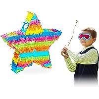Relaxdays Piñata Estrella sin Relleno, Papel, Multicolor, 43,5