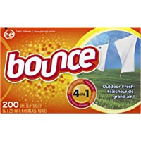 Bounce Fabric Softener Dryer Sheets, Outdoor Fresh Scent, 200 Count - Packaging May Vary