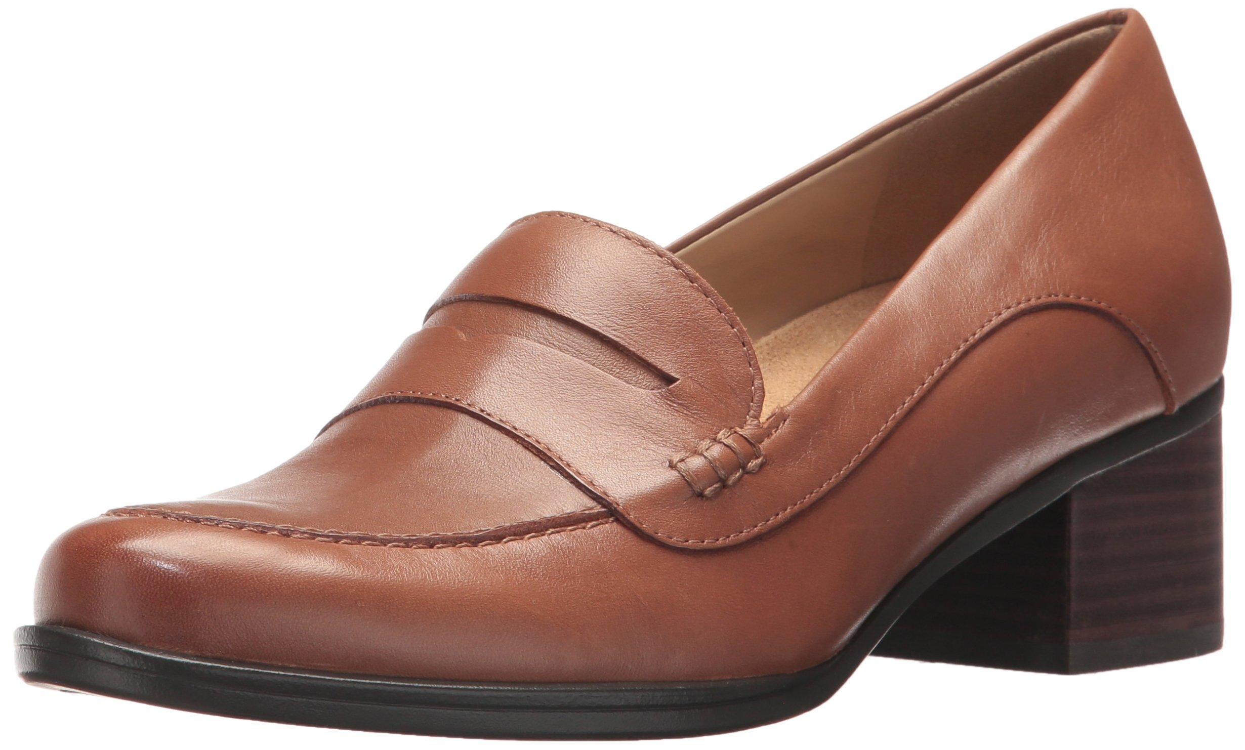 Naturalizer Women's Dinah Loafer, Saddle Tan, 8.5 Medium US