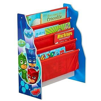 Hello Home PJ máscaras Kids Sling – Estantería – Dormitorio Libro de Almacenamiento, Madera,