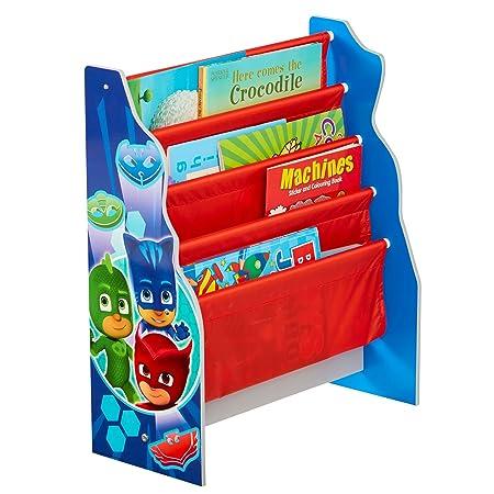 Hello Home PJ máscaras Kids Sling - Estantería - Dormitorio Libro de Almacenamiento, Madera, Multicolor: Amazon.es: Hogar