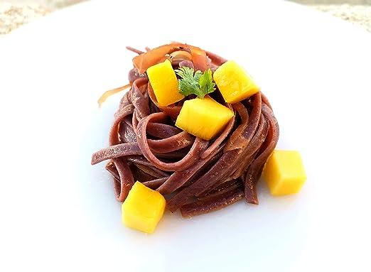 Jasberry Pasta Organic Superfood Gluten-Free Fettuccine with Spirulina, Moringa, and Matcha Green Tea 8 Ounces (Pack of 1)