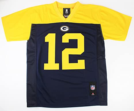 72de54f37 Outerstuff Aaron Rodgers Green Bay Packers #12 NFL Youth Alternate Jersey  Navy (Youth Small