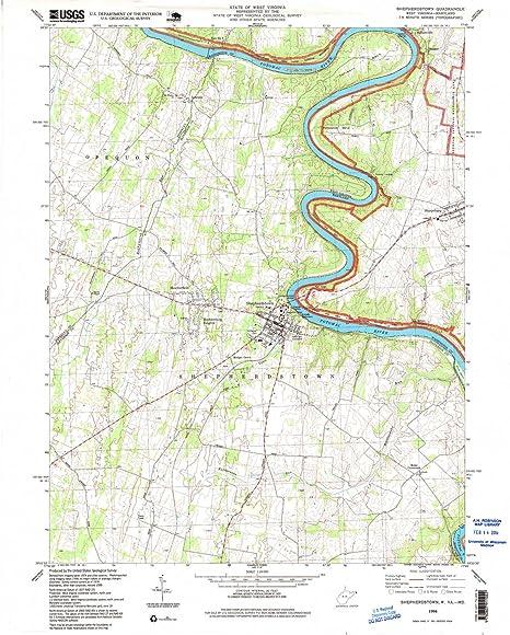 Amazon.com : Shepherdstown WV topo map, 1:24000 scale, 7.5 X 7.5 ...