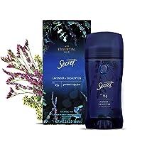 Secret Antiperspirant Deodorant for Women With Pure Essential Oils, Paraben Free, Lavender & Eucalyptus Scent, 2.6 Oz