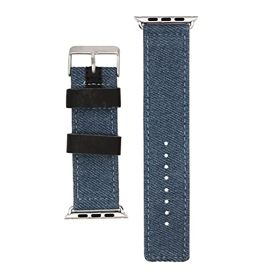 Amazon com: iBand Pro watch band - Dark Denim canvas leather
