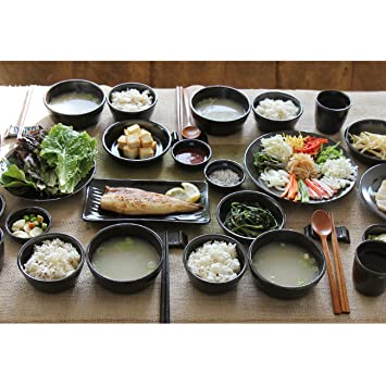 nice today The Korean Traditonal Onggi tableware Set (28p) for 4 person Amazon.co.uk Kitchen u0026 Home  sc 1 st  Amazon UK & nice today The Korean Traditonal Onggi tableware Set (28p) for 4 ...