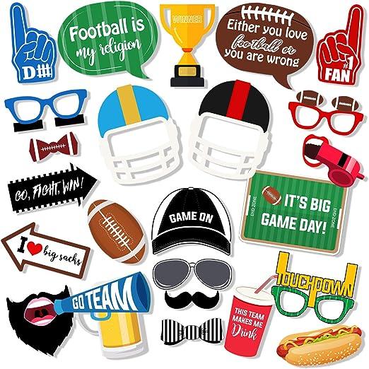 Amazon Com Super Bowl Photo Booth Props 27 Pieces Football