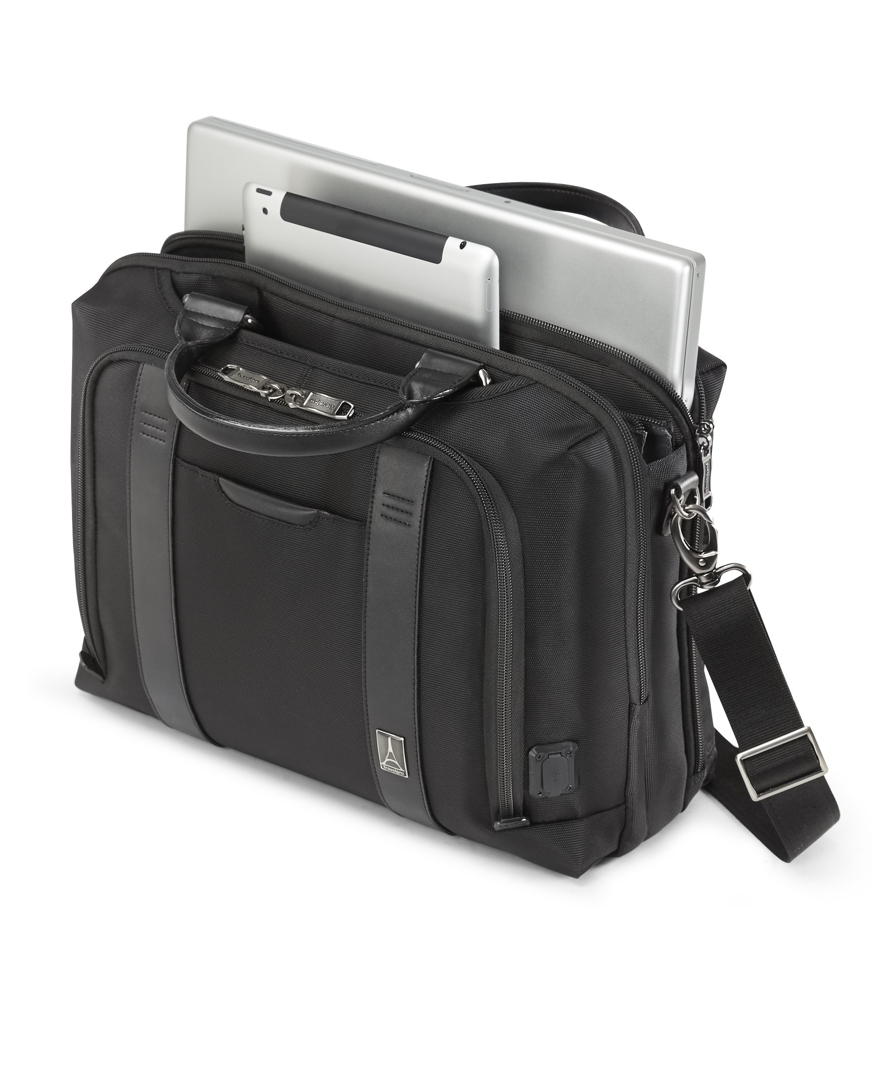 Travelpro Crew Executive Choice 2 Pilot Under-Seat Brief Bag, 16-in with USB port by Travelpro (Image #3)
