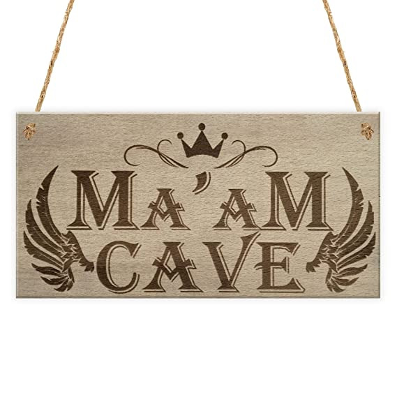 Ma am cueva She cobertizo para jardín hermana Mujer cueva para colgar placa amistad signo: Amazon.es: Hogar