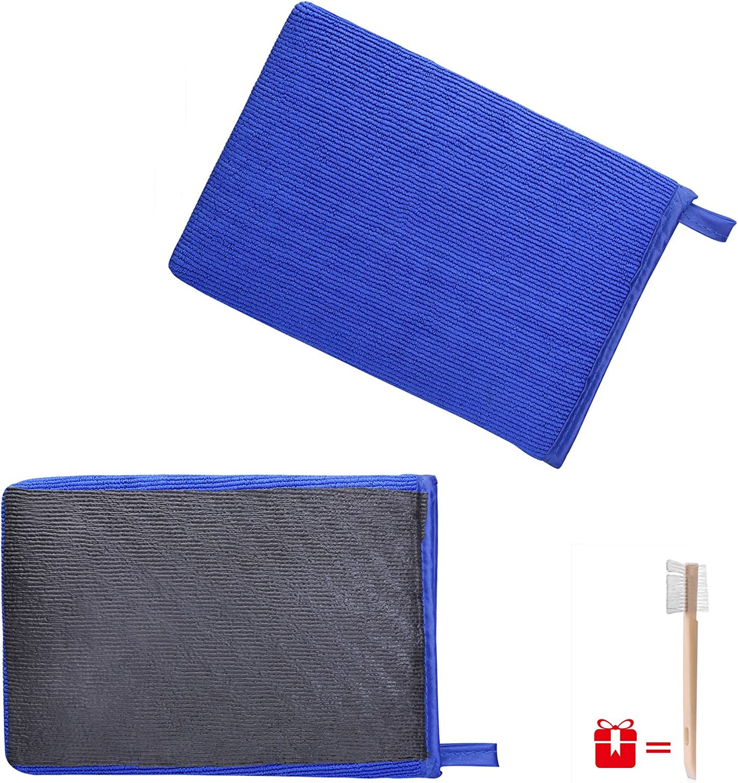 JIANFA Clay Bar Mitt, AutoScrub Fine Grade Wash Mitt Automotive Detailing Towel Wash Mitt Clay Bar Alternative, 1 Piece Blue: Automotive