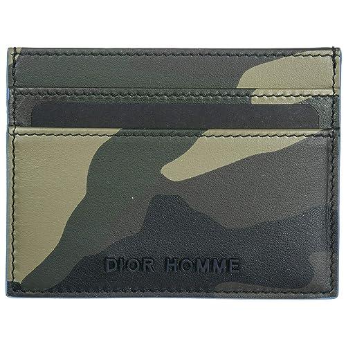 Prada tarjetero para tarjetas de crédito en piel hombre nuevo verde: Amazon.es: Zapatos y complementos