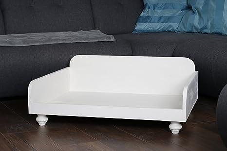 Cama para perros Madera Crema Blanco Perro longue Espacio Descanso perro perros sofá Animales Muebles 80