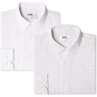 find. 2 Pack Slim Shirt Camisa Hombre (Pack de 2)