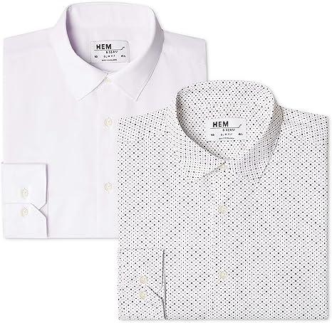 find. 2 Pack Slim Fit Printed - Camisa Hombre: Amazon.es: Ropa y ...